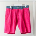 Denim Jersey Stretch Shorts